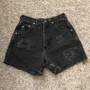 Juniors Black Wrangler Shorts